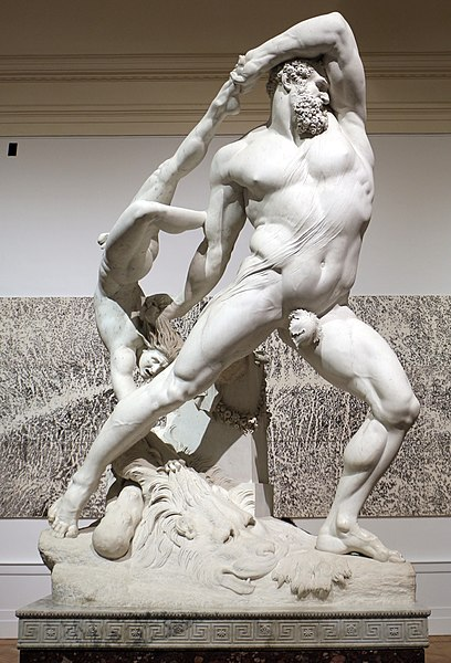 Antonio Canova. Hercules y Lica. Neoclasicismo
