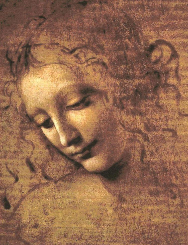 Cabeza de Mujer. Leonardo Da Vinci