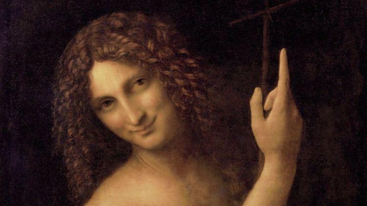 Salai como San Juan Bautista. obra de Leonardo Da Vinvi